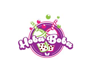 Hoba Boba logo design