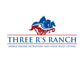 Three R's Ranch logo design