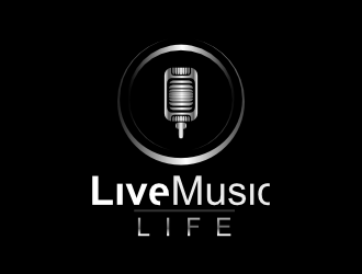 Live Music Life logo design