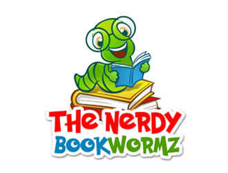 The Nerdy Bookwormz logo design