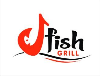 J Fish logo design