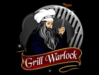 Grill Warlock logo design