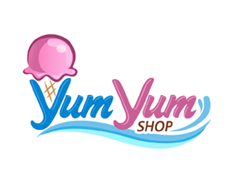 Yum yum shop logo design