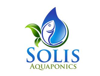 Solis Aquaponics logo design