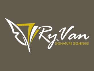 RyVan Signature Signings logo design