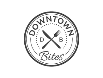 Downtown Bites logo design