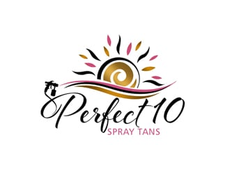 Perfect 10 Spray Tans logo design