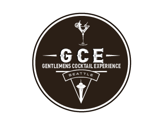 G.C.E.  (Or Gentlemen's Cocktail Experience) logo design