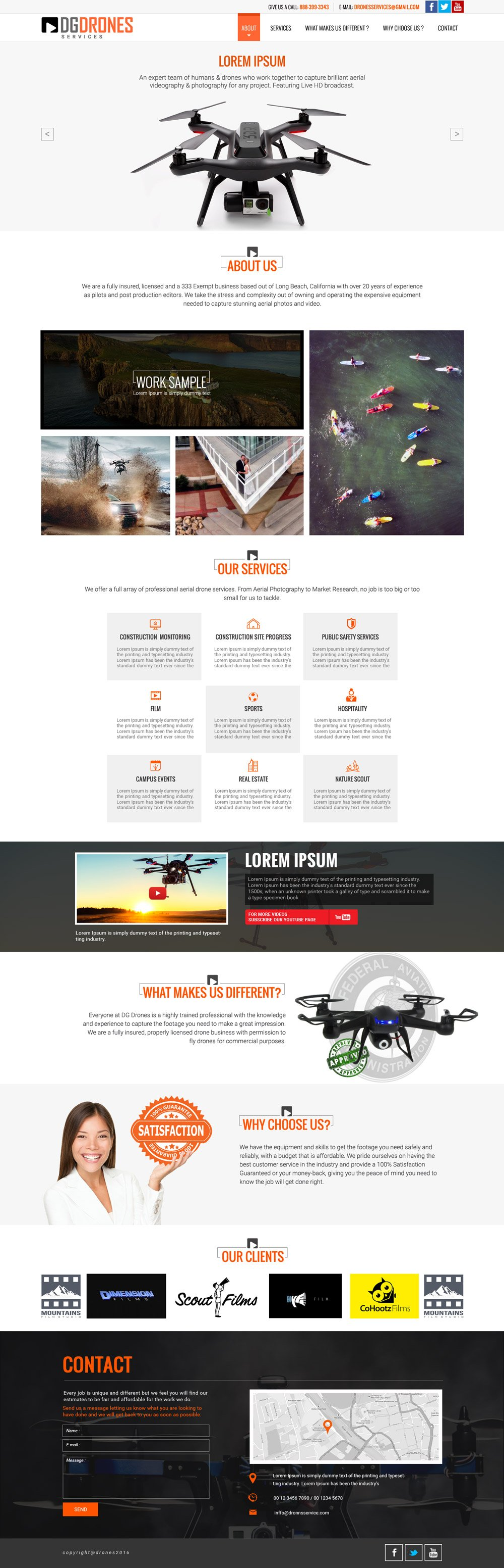 Drone Services logo design
