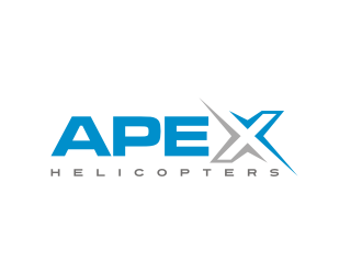 Apex Helicopters logo design