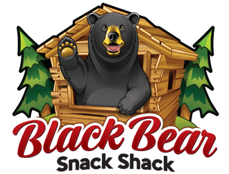 Black Bear Snack Shack logo design
