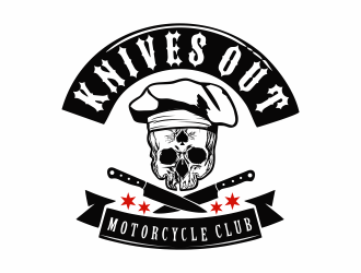 KNIVES OUT MOTORCYCLE CLUB logo design