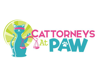 Cattorneys At Paw logo design