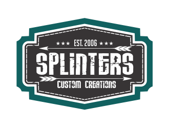 Splinters Custom Wood Creations logo design