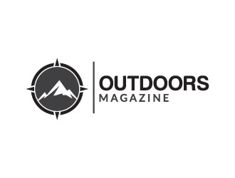 Outdoors Magazine logo design