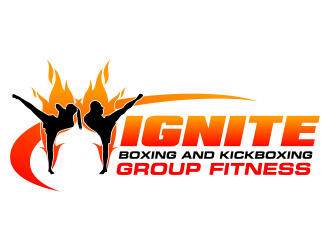 IGNITE: Boxing and Kickboxing Group Fitness logo design