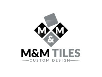 M&M Tiles logo design - 48HoursLogo.com