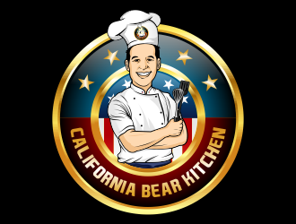 California Bear Kitchen logo design