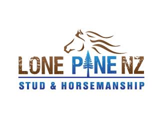 Lone Pine NZ Stud & Horsemanship logo design