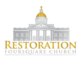 Restoration Foursquare Church logo design