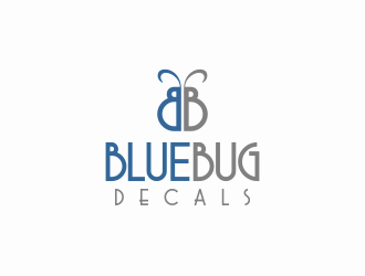BlueBug Decals logo design
