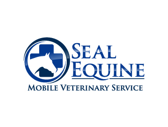 Seal Equine Mobile Veterinary Service logo design