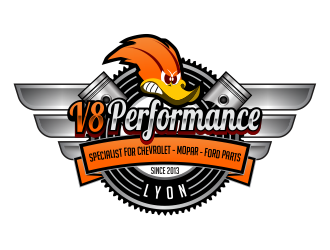 V8 PERFORMANCE logo design