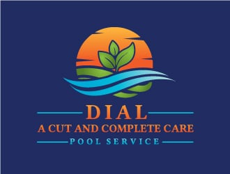 Dial A Cut and Complete Care Pool Service logo design
