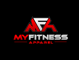 MY FITNESS APPAREL - MF - MFA logo design