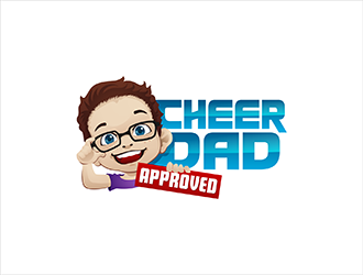 Cheer Dad Approved logo design