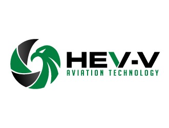 Hev-e Aviation Technology logo design