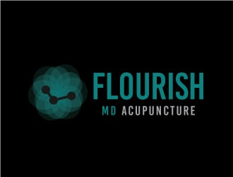 Flourish MD Acupuncture logo design