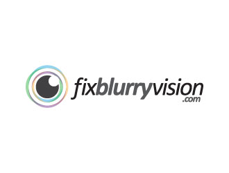 fixblurryvision.com OR Fix Blurry Vision logo design