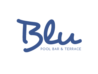 Blu Pool Bar & Terrace logo design