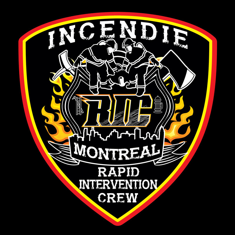 Montreal Fire Department - RIC - Rapid Intervention Crew instructor logo design