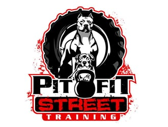 PitFit Street Training logo design