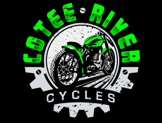 Cotee River Cycles logo design