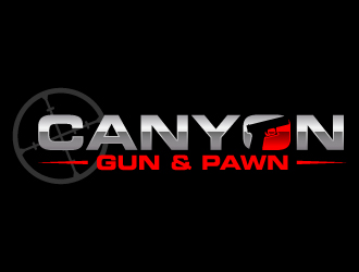 Canyon Gun & Pawn logo design
