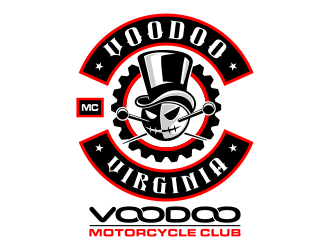 VOODOO MC  (motorcycle club) logo design