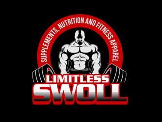 Limitless Swoll logo design