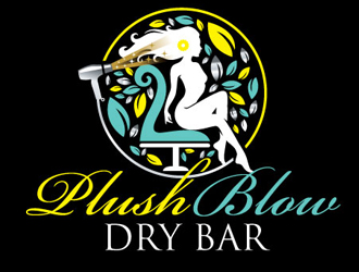 PLUSH BLOW DRY BAR logo design