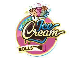Minus 30° Ice Cream Rolls logo design
