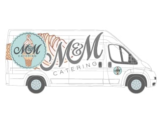 M&M catering logo design
