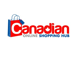 CANADIAN ONLINE SHOPPING HUB logo design