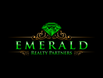 Emerald Realty Partners logo design