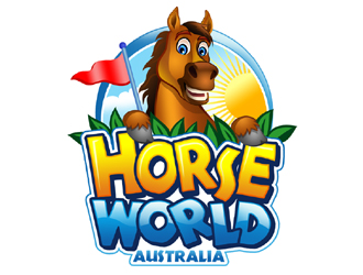 Horse World (Australia) logo design