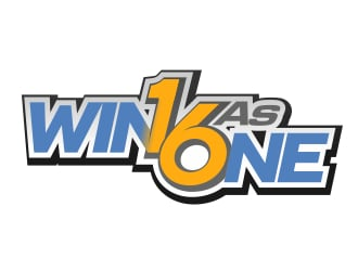 """Win as One"" or ""W1n as One"" Or ""W1n as 6ne"" logo design"