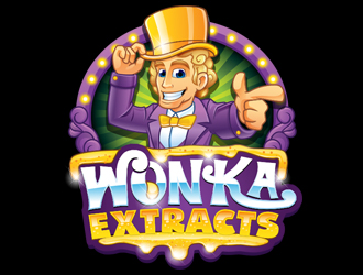 Wonka Extracts or Wonka Concentrates logo design