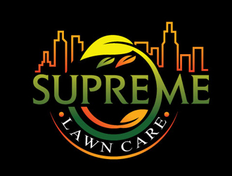 SUPREME LAWN CARE logo design