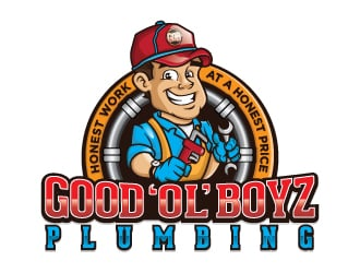 Good Ol Boyz Plumbing logo design